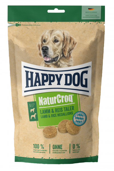 Happy Dog NaturCroq Lamm-Reis-Taler